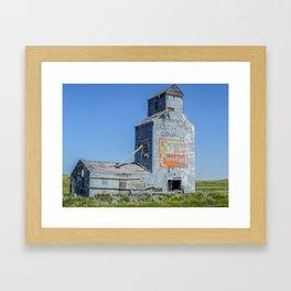 Sapphire Flour, Elevator, Suffolk Montana 2 Framed Art Print