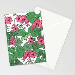 Pelargonium flowers Stationery Cards