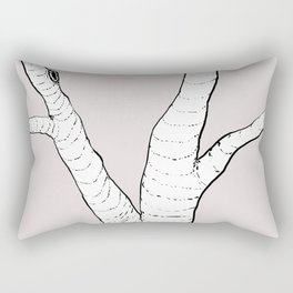 Birch Tree Illustration Rectangular Pillow
