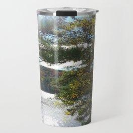 Quiet Lake in Autumn Travel Mug