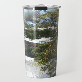Quiet Lake in Autumn Travel Mug