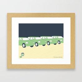 """""""Our trucks are 100% green."""" Framed Art Print"""