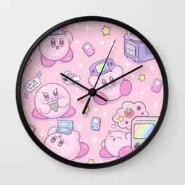 Kirby Gamer Wall Clock