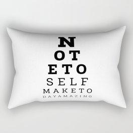Eyesight Test Quote Rectangular Pillow