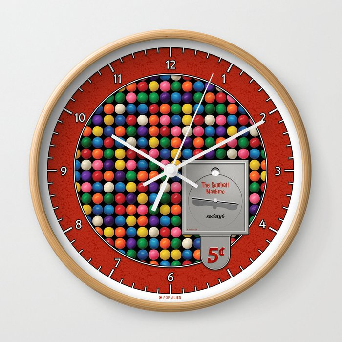 The Gumball Machine Wall Clock