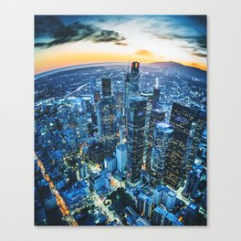 los angeles downtown Canvas Print