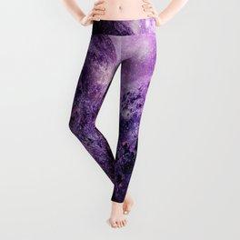 galaxy mountains Purple Leggings