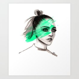Sasha in mochito vibes Art Print