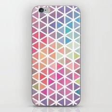 Geometric Fractal Triangles Bubblegum Rain iPhone Skin
