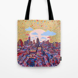 austin texas city skyline Tote Bag