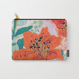 Orange Lily Carry-All Pouch
