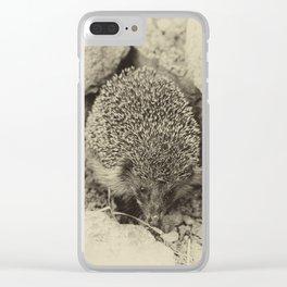 Cute visitor Clear iPhone Case