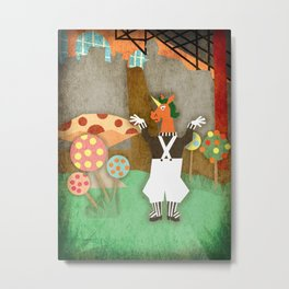 Oompa Loompa Unicorn Metal Print