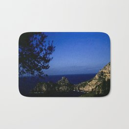 Amalfi Coast - Vintage color photo from 1940's, Italy Bath Mat