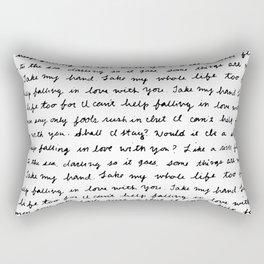 Can't Help Falling in Love Script Rectangular Pillow