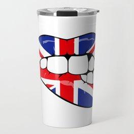 United Kingdom Lips Travel Mug