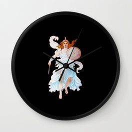 Minerva Goddess Of Victory Wall Clock
