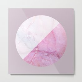 Rose Quartz Marble Metal Print