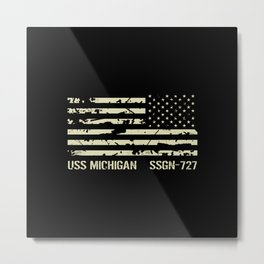 USS Michigan Metal Print
