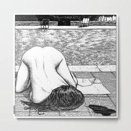 asc 799 - La chaleur chienne (Dog Days Drips) Metal Print