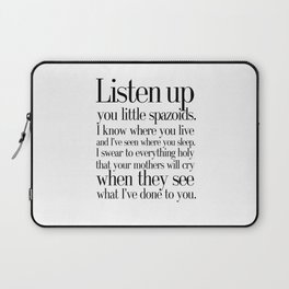 quoting Hollywood 4 Laptop Sleeve