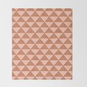 Triangular Lines in Terracotta and Blush by junejournal