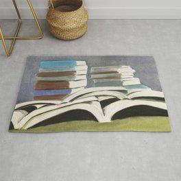 Books - Pastel Illustration Rug