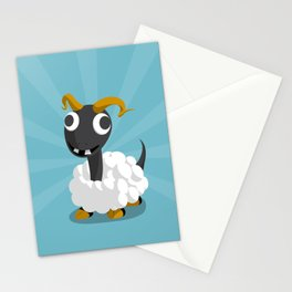 The Dino-zoo: Sheep-saurus Stationery Cards