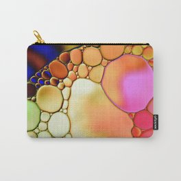 """""""Stained Glass Orbs"""" - Oil and Water Carry-All Pouch"""