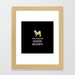 Alaskan Malamute gifts | Easter gifts | Easter decorations | Easter Bunny | Spring decor Framed Art Print