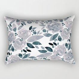 Abstract watercolor roses - neutral Rectangular Pillow