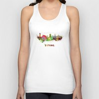 vienna Tank Tops featuring Vienna skyline in watercolor by Paulrommer
