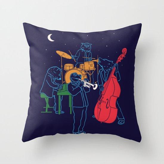 Animals plays Jazz Throw Pillow
