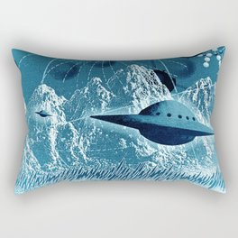 UFO's on alien world Rectangular Pillow