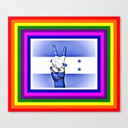 Honduras World Peace Flag Canvas Print