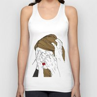 introvert Tank Tops featuring Introvert 7 by Heidi Banford
