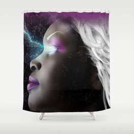 Portrait of Storm From the X Men Shower Curtain