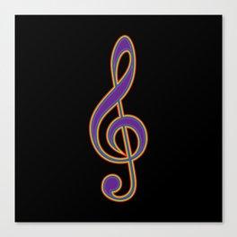 Rainbow G Clef Treble Clef Music Lover Musician Canvas Print