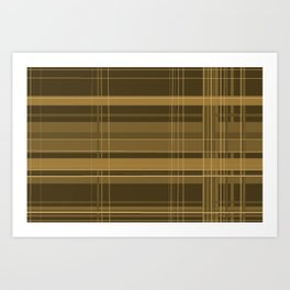 Brown Plaid Art Print