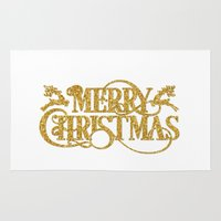 merry christmas Area & Throw Rugs featuring Merry Christmas by Better HOME