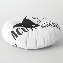 Acute Angle Math Pun Floor Pillow