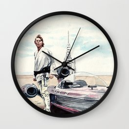 Luke Skywalker on Tatooine Wall Clock