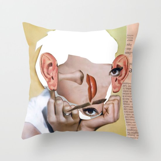 Audrey 2 Collage Throw Pillow