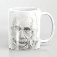 einstein Mugs featuring Albert Einstein by Olechka