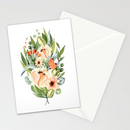 White Orchards Bouquet Stationery Cards