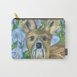 Musk Deer with Bluebells Carry-All Pouch