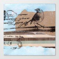 birdy Canvas Prints featuring Birdy by zAcheR-fineT