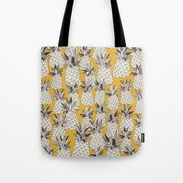 pineapple sunshine yellow Tote Bag