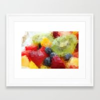fruits Framed Art Prints featuring Fruits by Veronika