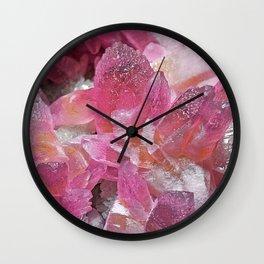 Pink Gemstone Wall Clock